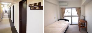 宿泊室・廊下